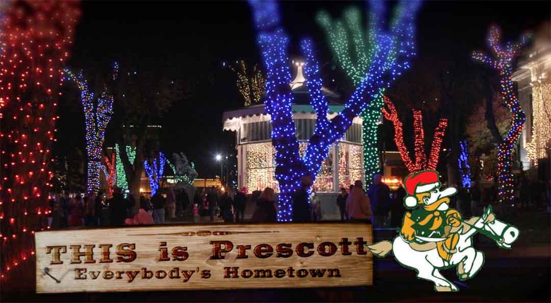 Ole Ruff gallops into Arizona's Christmas City in Prescott, AZ
