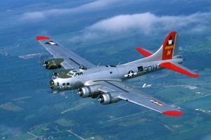 B-17 Bomber, Flying Fortress, Aluminum Overcast