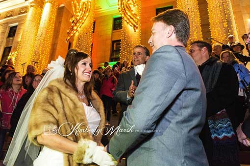 Jenn Winters-Ashcraft and Tom Ashcraft wedding, Courthouse Plaza in Prescott, AZ. © http://www.kimberlymarshphotography.com/