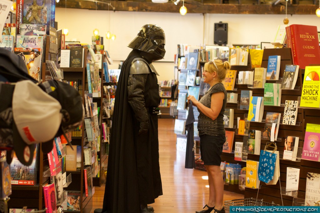 Darth Vader at The Peregrine Book Company on Free Comic Book Day 2015 in Prescott, AZ.