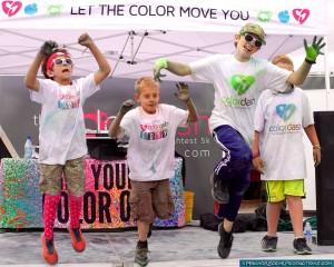 2015 Prescott Color Dash #CD5K Participants having a bit of fun.