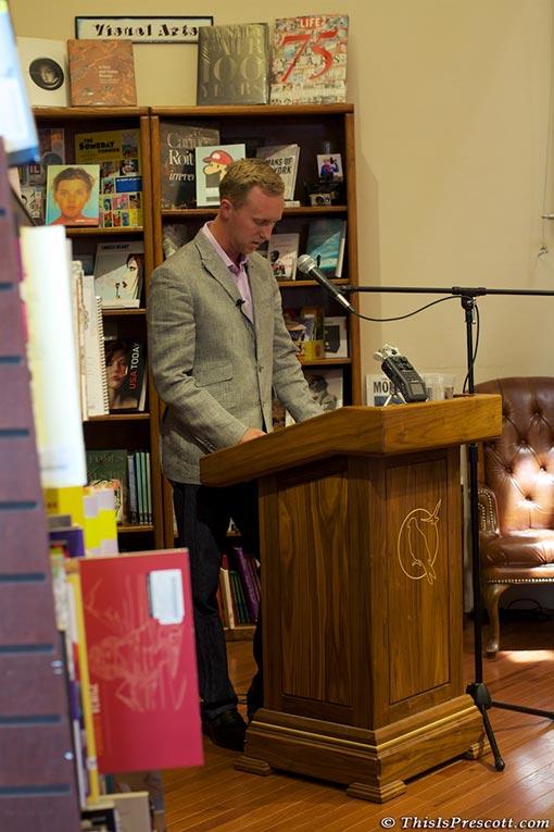 Prescott 19 Hotshots, Brendan McDonough Book Signing at The Peregrine Book Company in Prescott, Arizona.