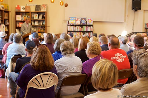 Prescott 19 Hotshots, Brendan McDonough Book Signing at The Peregrine Book Company in Prescott, Arizona.