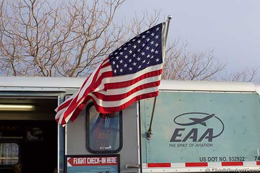 Flying Old Glory at the Experimental Aircraft Association (EAA)