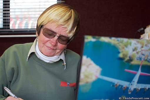 Mary Dominiak of the Experimental Aircraft Associaton (EAA)