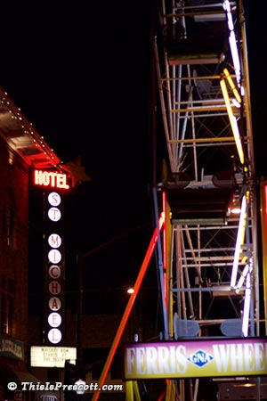 Ferris Wheel at New Year's Eve Boot Drop in Prescott, Arizona
