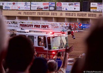 First responders and the Prescott Fire Department are honored at 130th Annual World's Oldest Rodeo® in Prescott, Arizona on July 3, 2017.