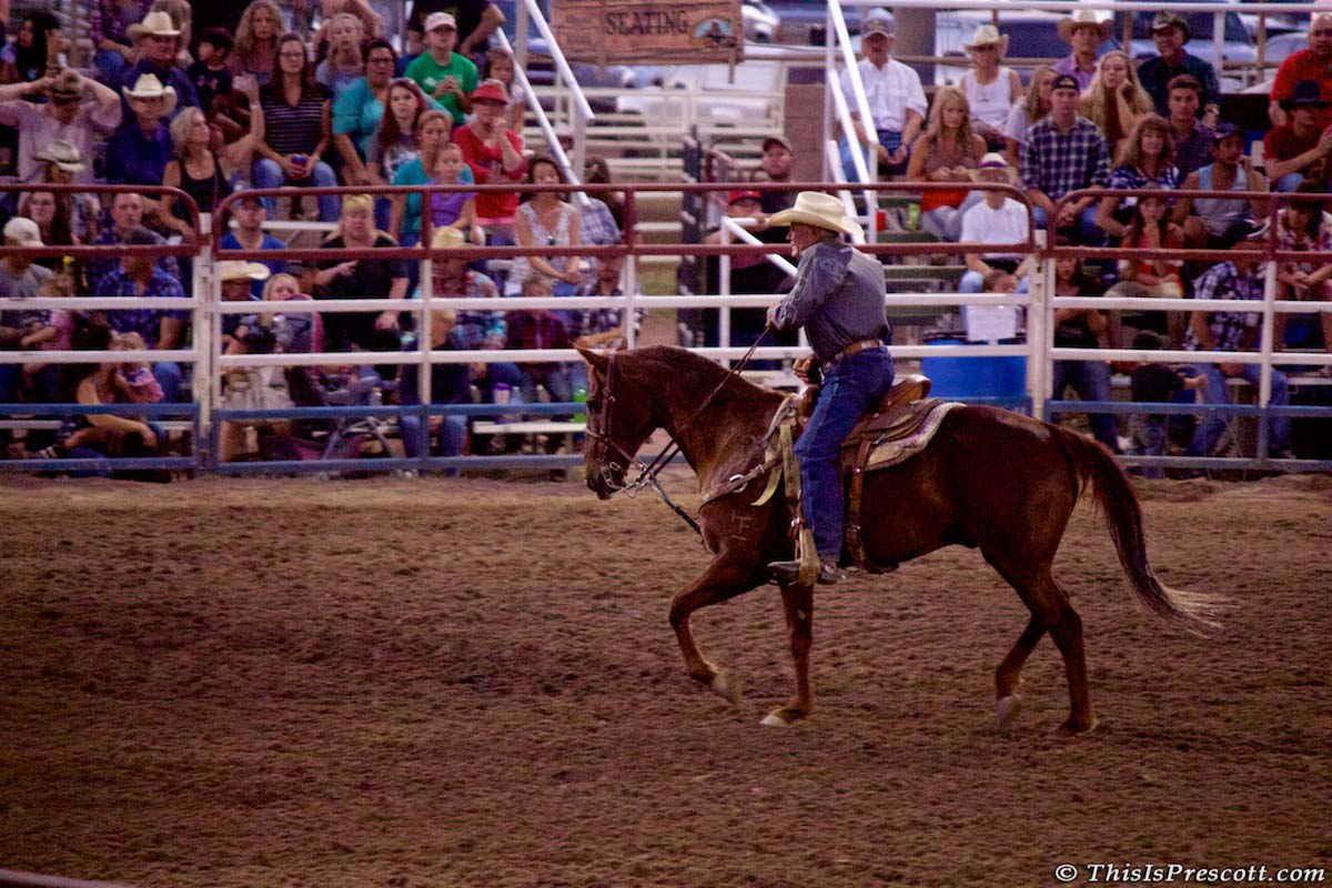 J.C. Trujillo at 130th Annual World's Oldest Rodeo® in Prescott, Arizona on July 3, 2017.