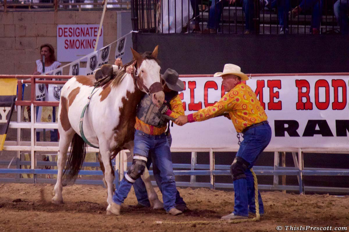 130th Annual World's Oldest Rodeo in Prescott, Arizona on July 3, 2017.
