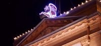 New Year's Eve Boot Drop on top of the Palace Bar in Prescott, Arizona